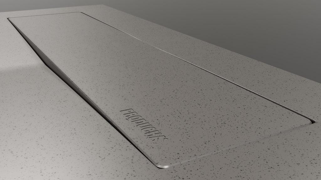 Plato de ducha antideslizante en color gris